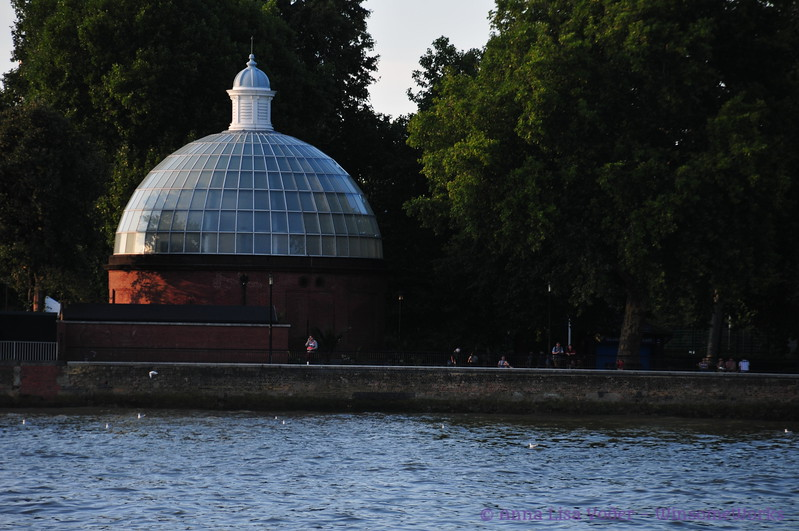 Entrance to the Greenwich Foot Tunnel near Greenwich PIer  - seen from Thames Ferry