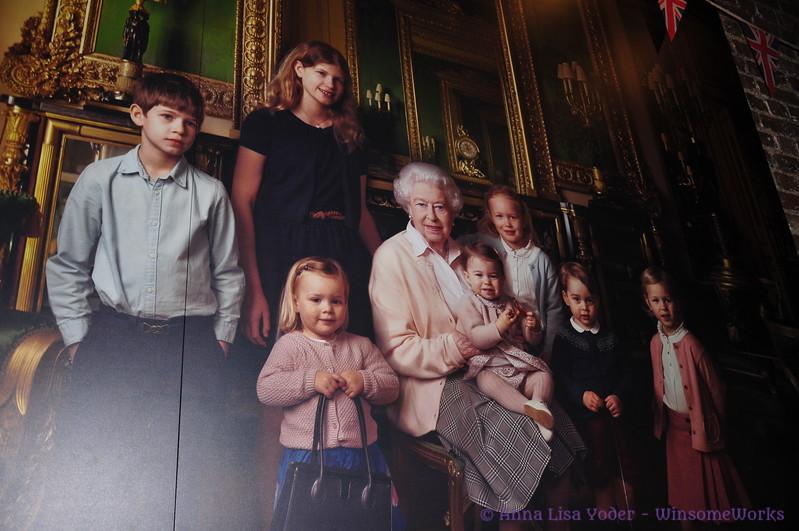 Photo of Queen Elizabeth II & her Great-grandchildren