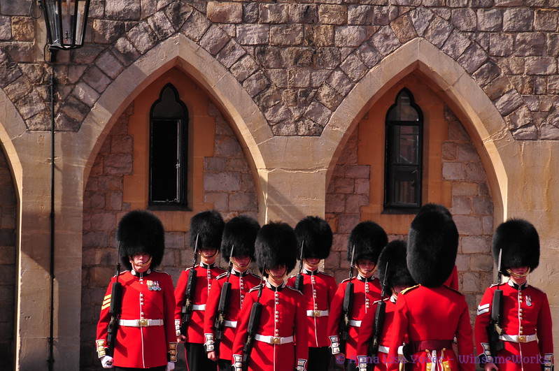 Mon. morning Changing of the Guard ceremony at Windsor Castle