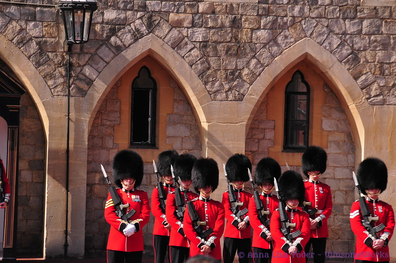 Monday morning Changing of the Guard ceremony at Windsor Castle