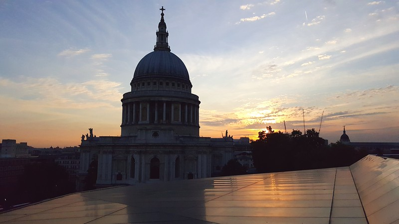 London view (St. Paul's Church) from top of One Change Place
