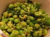Delicious pea salad at Leon