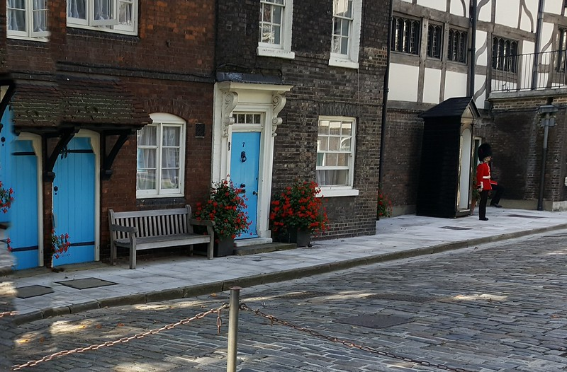 Guard & Inner Tudor Courtyard with residences at Tower of London
