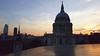 London sunset view (St. Paul's Church) from top of One Change Place