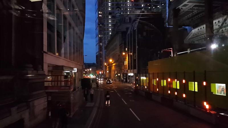 VIDEO - Double-decker bus ride through London at night