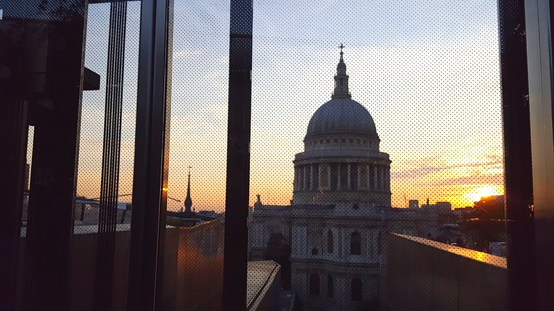 St Paul's from elevator in One Change Place