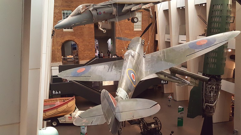 Planes in the Imperial War Museum