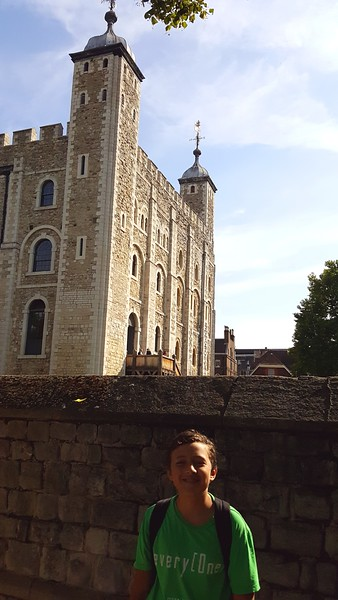 Xavier at the Tower of London