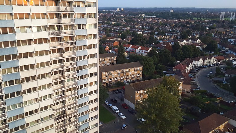 View from our apt. balcony in Enfield, London