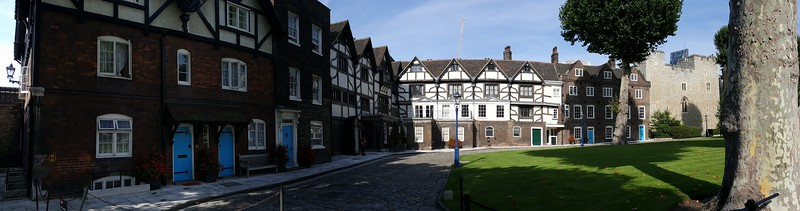 Inner Tudor Courtyard with residences at Tower of London