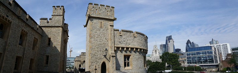 Tower of London and modern architecture nearby