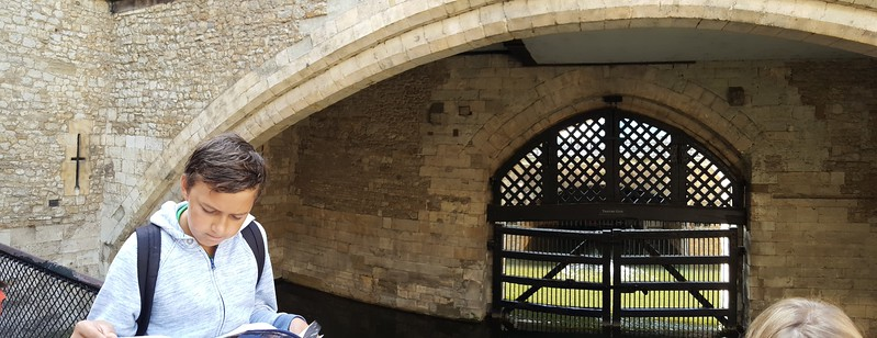 Xavier at the Traitors' Gate, Tower of London