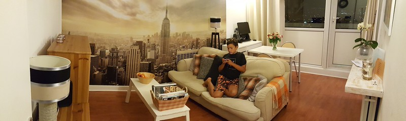 Living room of our Air BnB