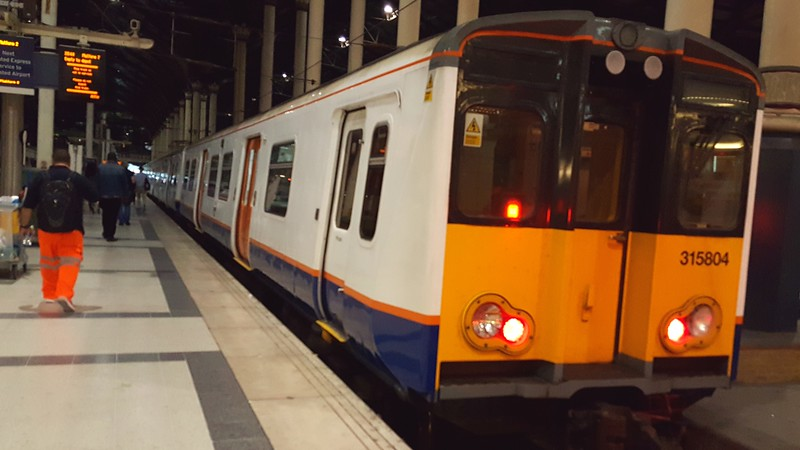 ThamesLink train in Liverpool Station