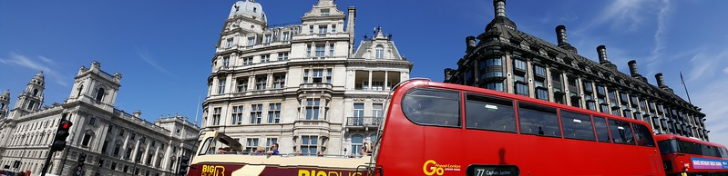 """Pano of our 1st glimpse of London just after coming up from the """"Tube"""""""