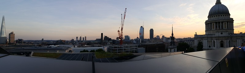 London panoramic from top of One Change Place