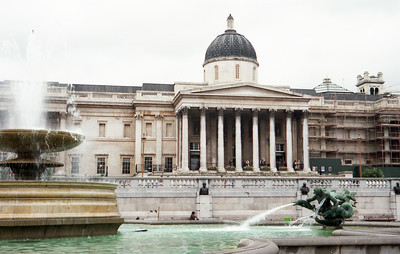 On the North side of Trafalgar Square is the National Gallery, built between 1834 and 1838.