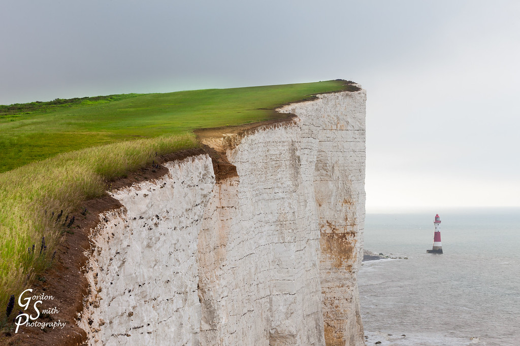 Beachy Head Chalk Cliffs and Green Grass