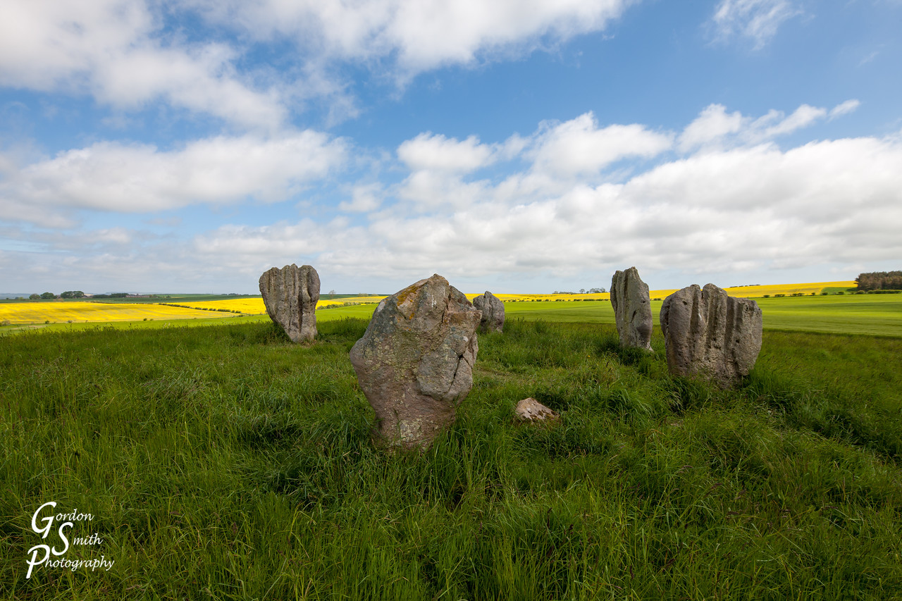 5 stone circle in Northumberland