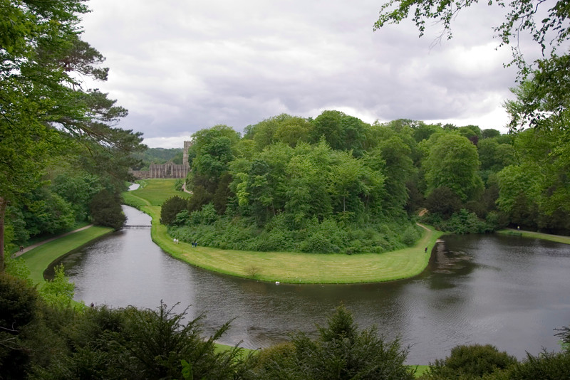 Fountains Abbey and the River Skell, North Yorkshire, England