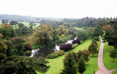 Warwick Castle grounds.