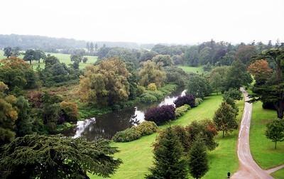 Warwick Castle grounds.