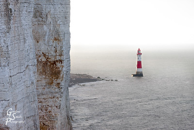 Chalk Cliffs and Lighthouse