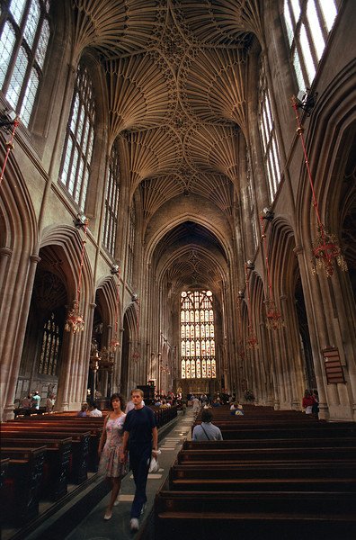 Bath Abbey interior, Bath, Avon, England, United Kingdom