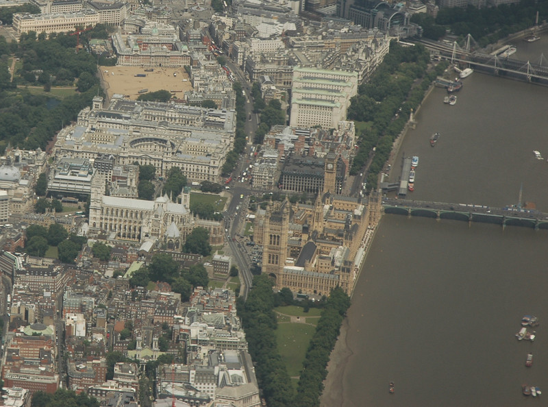 London, from an airplane
