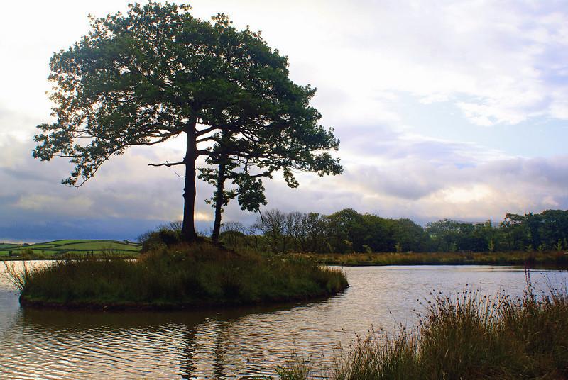 The fishing lake at Ashbury Golf Hotel in England