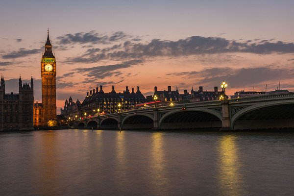 Dusk over Westminster Bridge