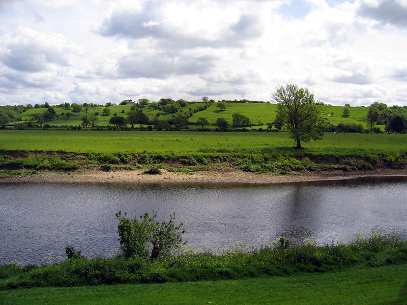 River Ribble at Ribchester, Lancashire, England