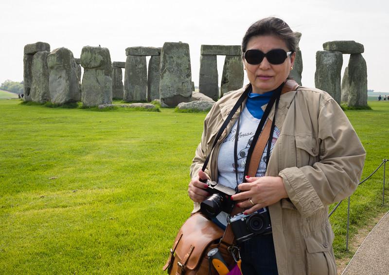 Vilma at Stonehenge