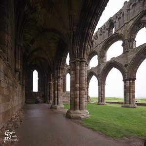 Inside Whitby Abbey Ruins