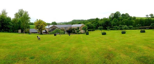Huntshayes Farm panoramic view
