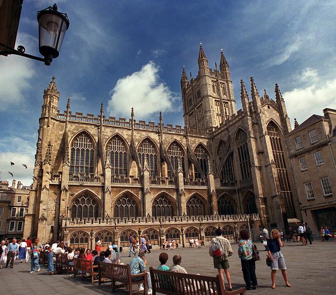 Bath Abbey, Bath, Somerset, England<br /> 1990 August