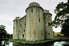 14th century castle, Nunney Castle, Nunney, Somerset, England.<br /> Photoshop cropped with perspective control to straighten parallel lines. Which also shortens the look of the castle.