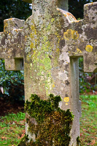 Head stone close up