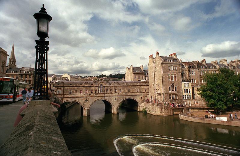 Bath River, Bath, Avon, Somerset. England.<br /> England<br /> 1990 August
