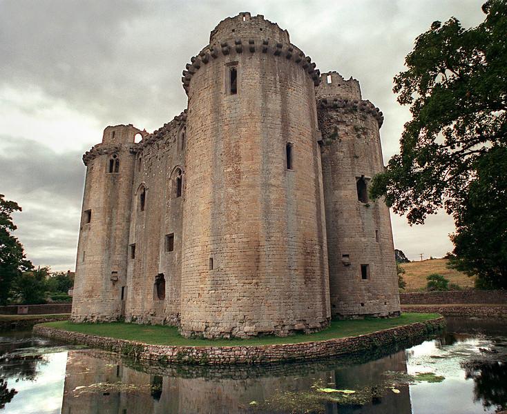 14th century castle, Nunney Castle, Nunney, Somerset, England.