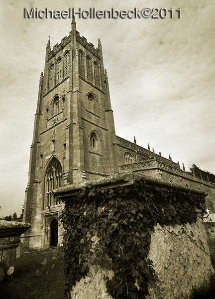 St. Mary's Church, Bruton, Somerset, England.  August 1990