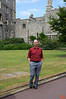 Richard outside of Windsor Castle. Windsor castle is just outside London, and is one of the working palaces for the Queen.<br /> IMG_3925
