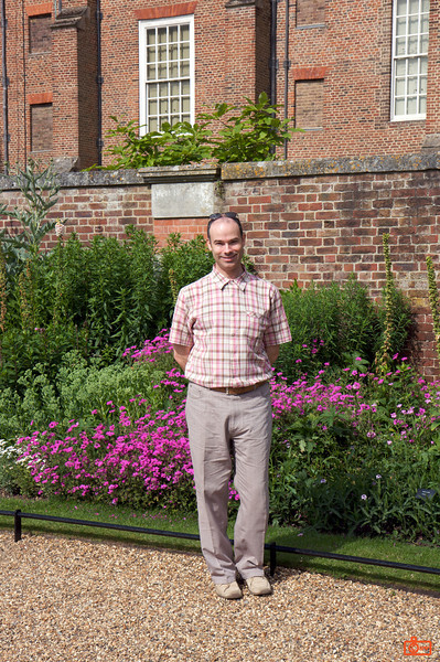 Richard in the Gardens of Hampton Court Palace.<br /> IMG_3962