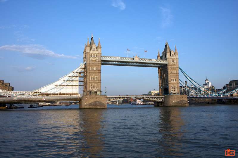 The Tower Bridge, which is next to the Tower of London.<br /> IMG_3806