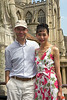 Richard and Rosa in the Roman Baths in Bath.<br /> IMG_4143