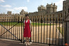 Rosa in front of the State Apartments, Windsor Castle.<br /> IMG_3939