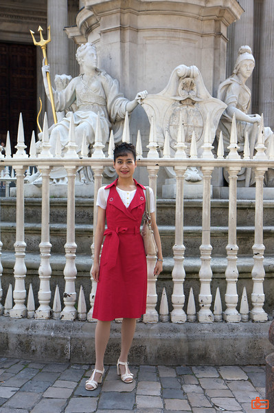 Rosa by St. Paul's Cathedral. We were not allowed to take photos inside St. Paul's, so all of our pictures are of the interior.<br /> IMG_3870