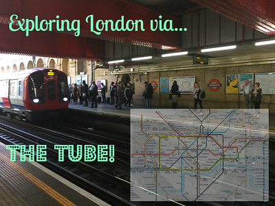 A new adventure - traveling by train! My most widely used routes were the Circle, District, and Bakerloo lines.  See maps of the Tube at: https://tfl.gov.uk/maps/track/tube