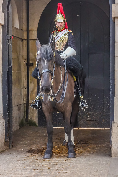 A sentry of The Household Cavalry.