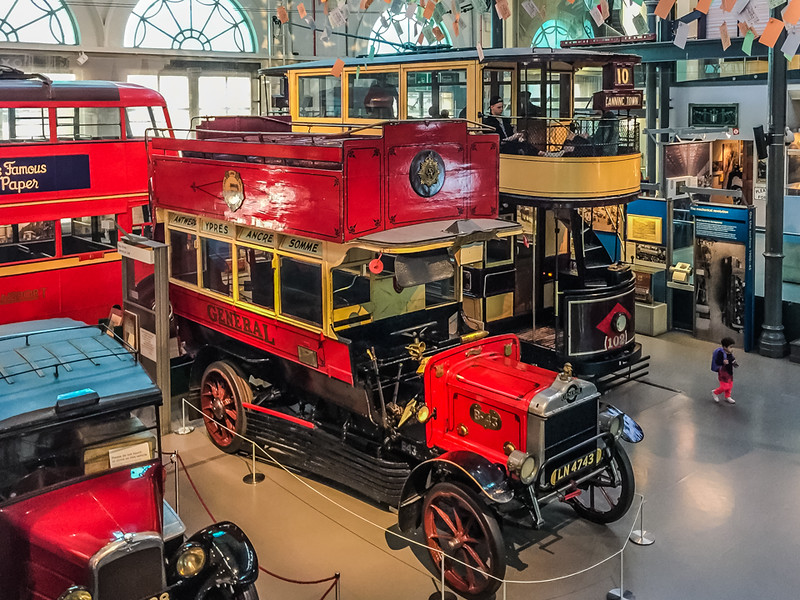 Various examples of early London public transport.